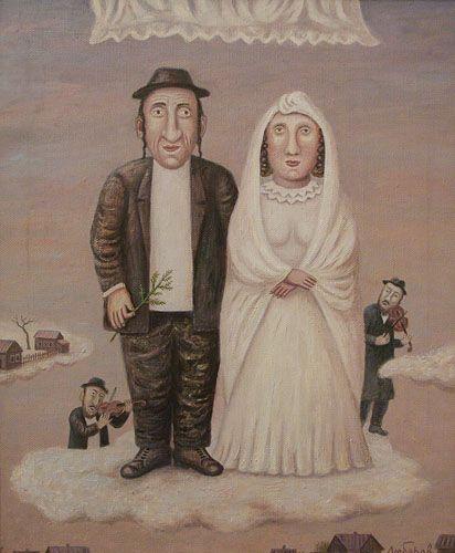 "Jewish wedding. From the series ""Jewish happiness"" Artist     Vladimir Lubarov"