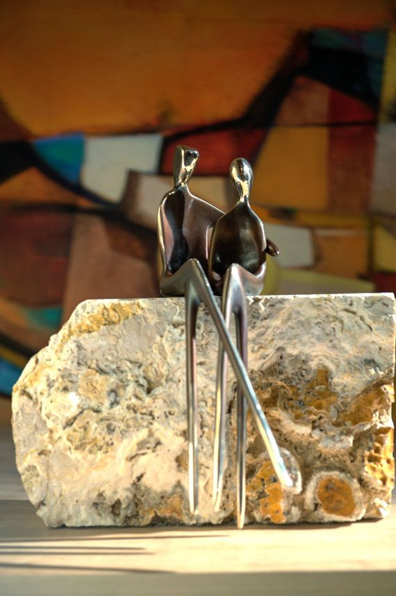 SACRED TRUST >>Bronze sculpture of soul mates by YennyCocq