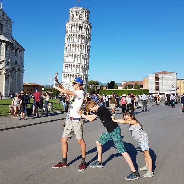 Oh Pisa looks like we overshot  It has been quite a few years since we've been to Pisa so we went back for another look....and it's still leaning. Kids had a kick out of making different poses. . . . . . . . . . . . . . . . #pisa #tower #italy #takethekids #travelmums #familylife #expatfamily #kids #travel #nomad #family #europe #vacation #holiday #takethekids #livingabroad #everydaylife #outdoors  #wanderlust #explore #exploremore #neverstopexploring  #travelgram #instatravel  #worldtr...