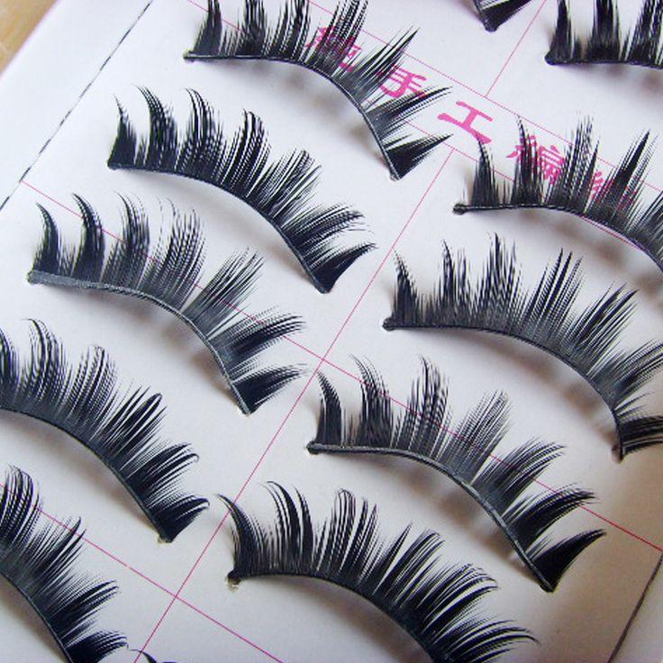 20Pair Makeup Long Black Thick False Eye Lashes Kit Big Eyes Fake Eyelashes Soft Cheap Eyelash Extension Eyelashes For Building