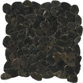 Found it at Wayfair - Natural Stone Flat Rivera Random Sized Pebble Unpolished Mosaic in Black