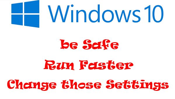 I will show you today the Top 6 Windows 10 Settings that you must change. Your Pc will run Faster, health will be Better and your Data will be Safe. There's a video tutorial at the end to understand more.