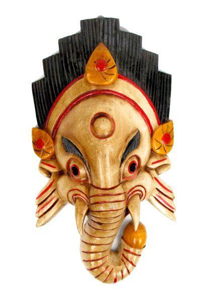 Máscara ganesh realizadas manualmente en madera y decoradas a mano por artesanos tibetanos, altura aprox 38-40 cm. http://www.aleko.kingeshop.com/Mascara-ganesh-dbaaaaioa.asp
