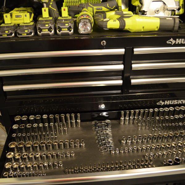 Ryobi Nation Socket Drawer Magnetic Organizer Socket Organizer Home Tools Toolbox Socket Organizer