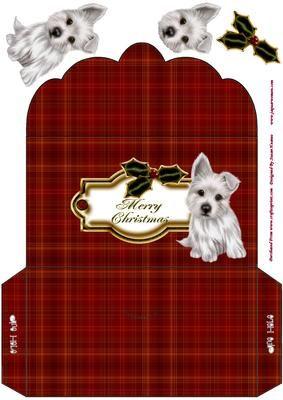 Sweet Little Terrier Pups Christmas Money Wallet on Craftsuprint - Add To Basket!