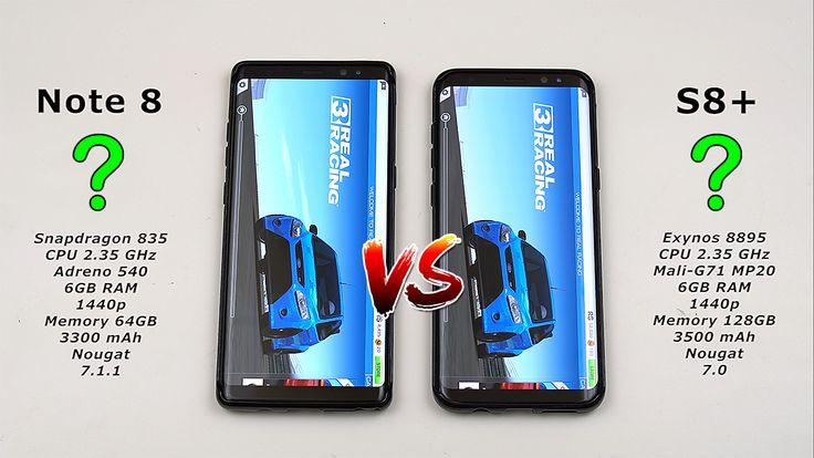 Samsung Note 8 vs Galaxy S8 Plus Speed Test! (Snapdragon 835 vs Exynos 8895)