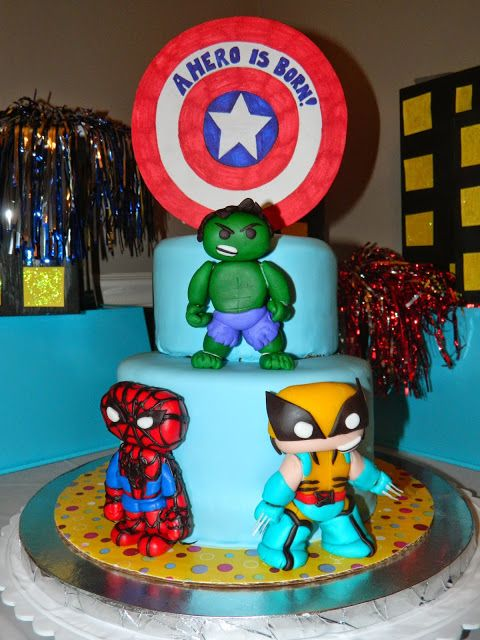 superhero baby shower baby shower cakes baby ideas party plan shower
