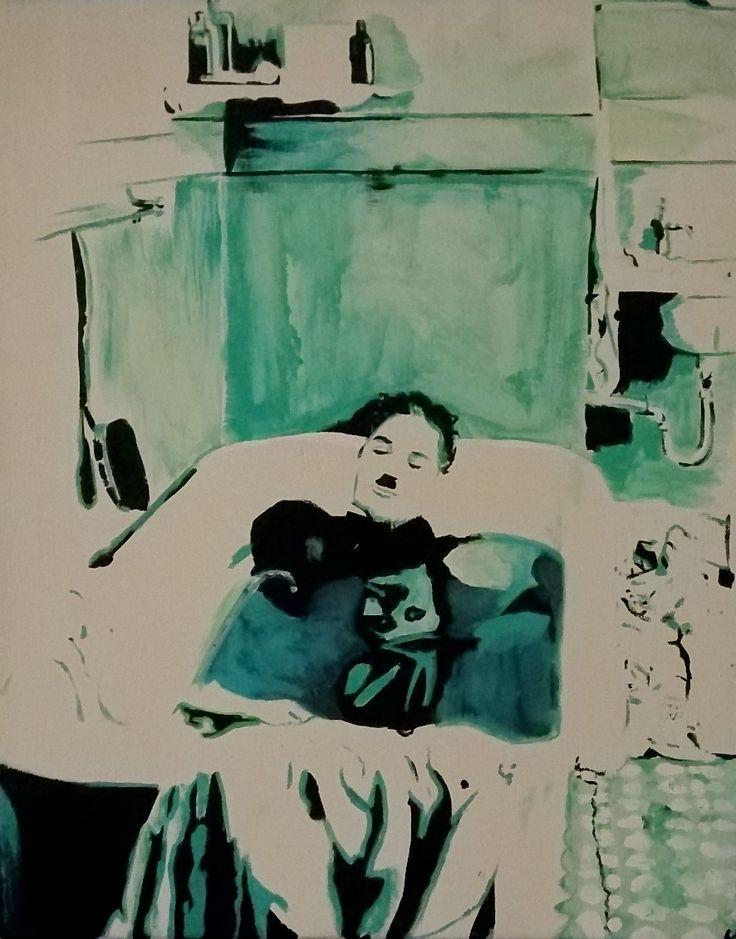 Charlie Chaplin By Selene Leal (acrylic On Canvas) #charliechaplin #comedy  #comedian