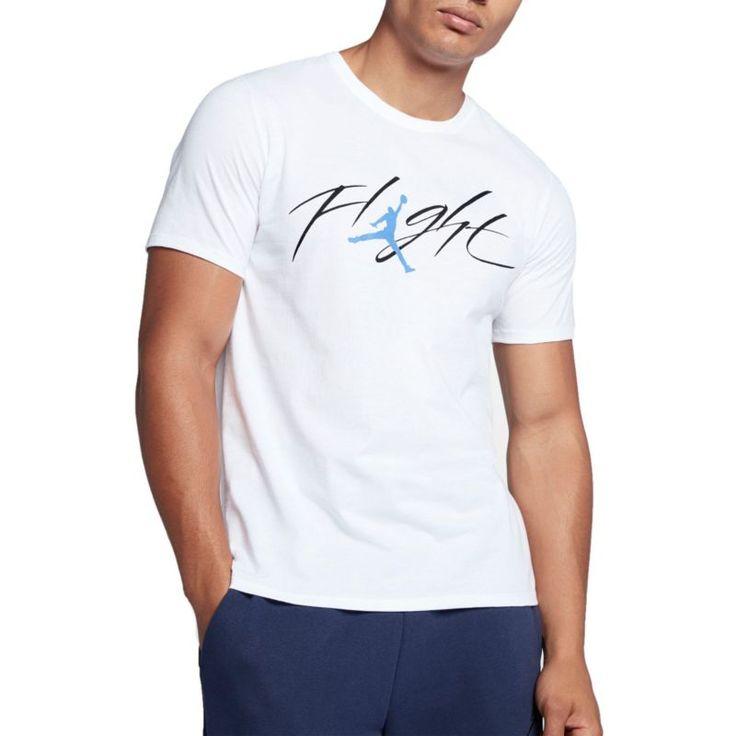 Jordan Men's Sportswear Flight Graphic T-Shirt, Size: Medium, White
