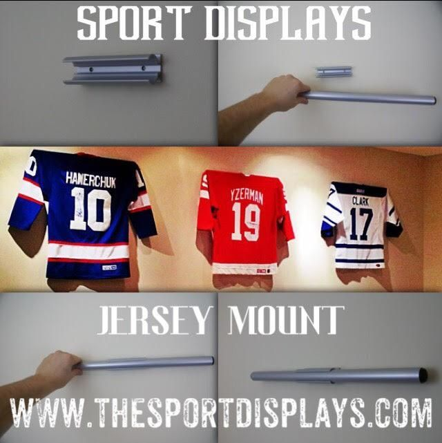 Mount Your Favourite Jersey, Uniform, Sweater or T-shirt without the need for expensive mounting techniques. No Nails, Any surface and you can even wear it on Game Day. Exclusive to the United States and Canada. Check out the video below to learn more!!