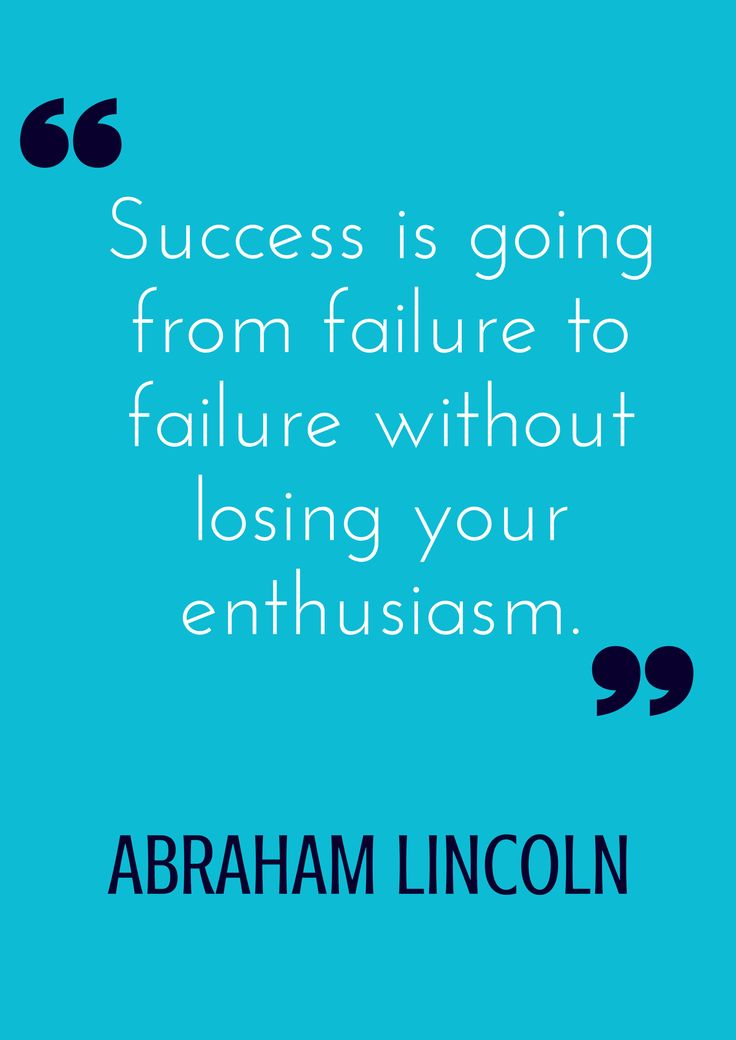 """Success is going from failure to failure without losing your enthusiasm."" -Abraham Lincoln http://tammybjelland.com/failures-and-successes/"