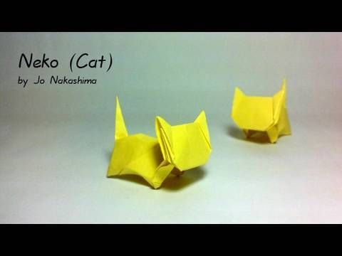 Origami Neko (Cat) (Jo Nakashima) - Remake - YouTube