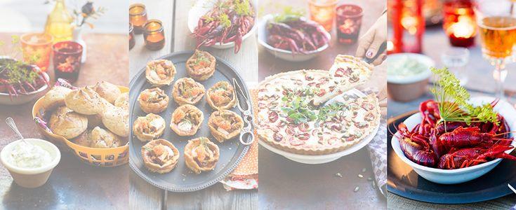 Kräftskivan är en svensk tradition. Förutom kräftor behöver du tillbehör som bröd, ost, nubbe och någon slags paj – gärna med Västerbottensost. Här hittar du recept och tips för att lyckas med festen!