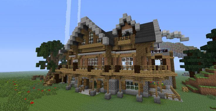 Wooden Mansion Minecraft Project Minecraft Wooden House