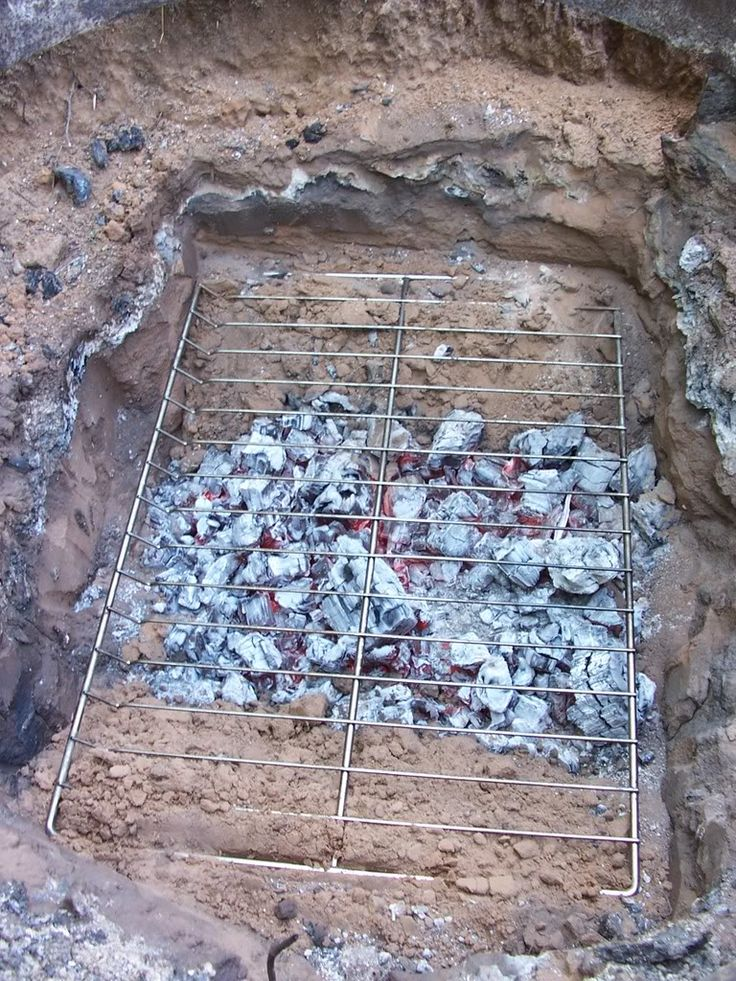 Underground Pit Cooking.