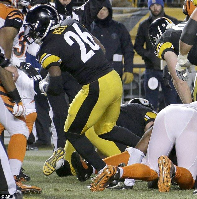 On the move: Pittsburgh Steelers running back Le'Veon Bell goes into the end zone for a touchdown