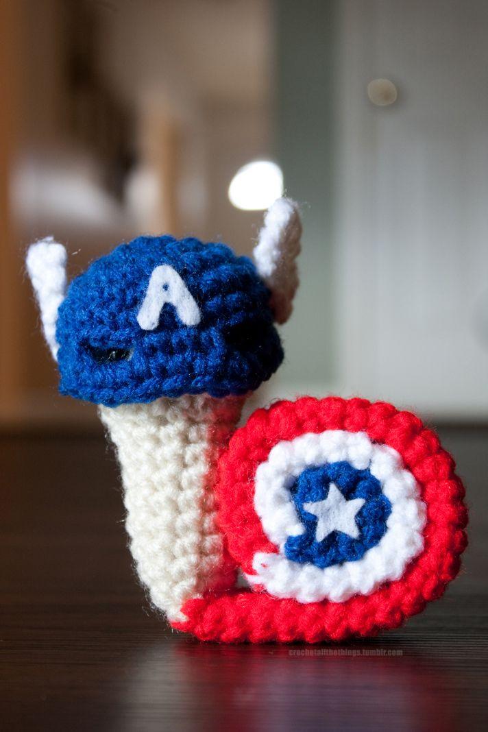Snail Avengers Amigurumi : 17 Best images about Slakken on Pinterest Free pattern ...