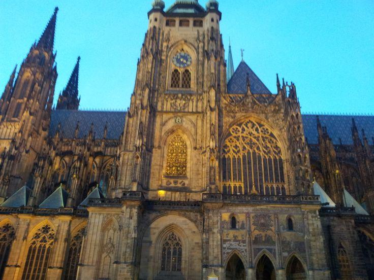 Katedrála Svatého Víta na Pražském hradě. St. Vitus Cathedral at Prague Castle (CZ).