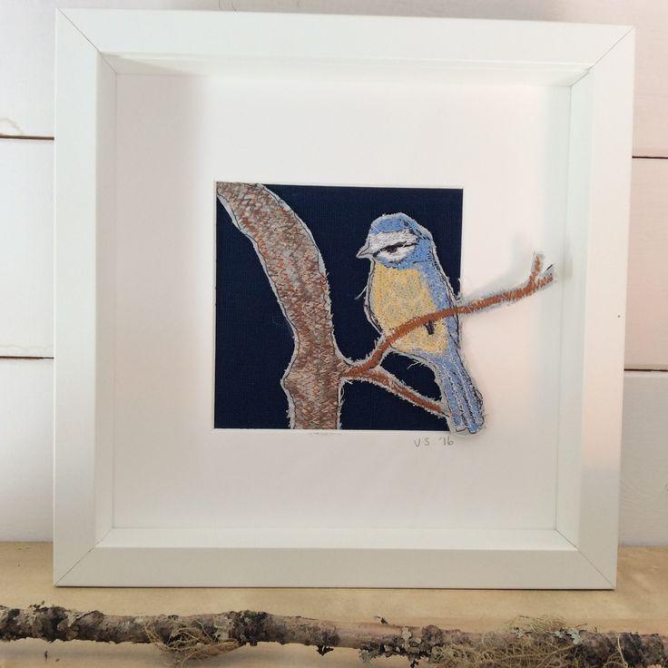 Bluetit. Embroidery. www.violetshirran.com