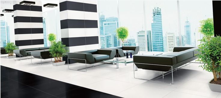 Carrelage sol 60x60 blanc mat ou noir mat rectifié pleine masse - Durstone Durstone carrelage sol interieur Carrelage sol moderne