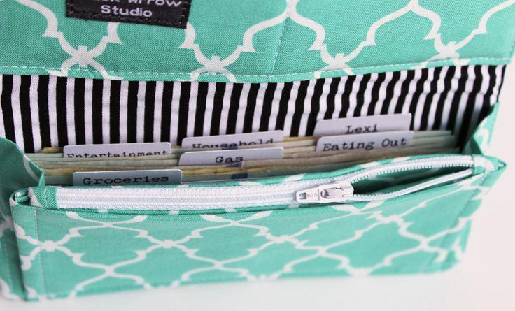 cash envelope wallet quatrefoil fabric dave ramsey cash