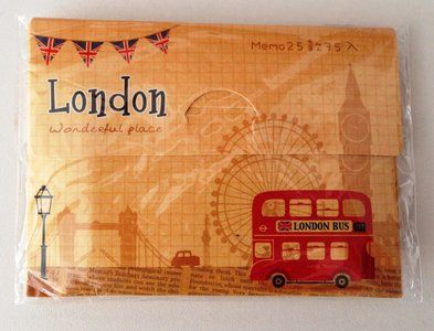 Mini Memo Note Sheets - London England - Bus - http://www.stationeryheaven.nl/memopad/Mini-Memo-Note-Sheets-London-England-Bus/M2006-3
