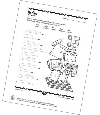 My Classroom Grade PK-12 Spanish Free Printable