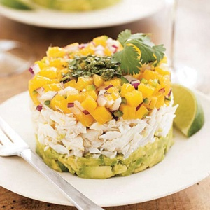 mango + avacado crab salad