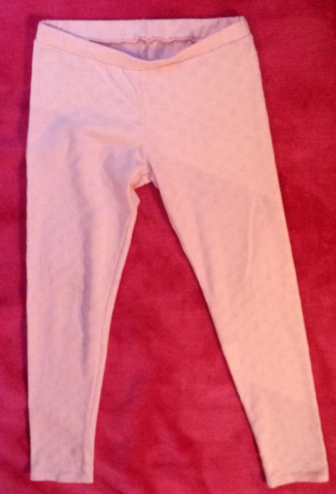 2x Leggings Pink 1 with Patterns 1 basic Girl Spring 9/10 Years Good Condition