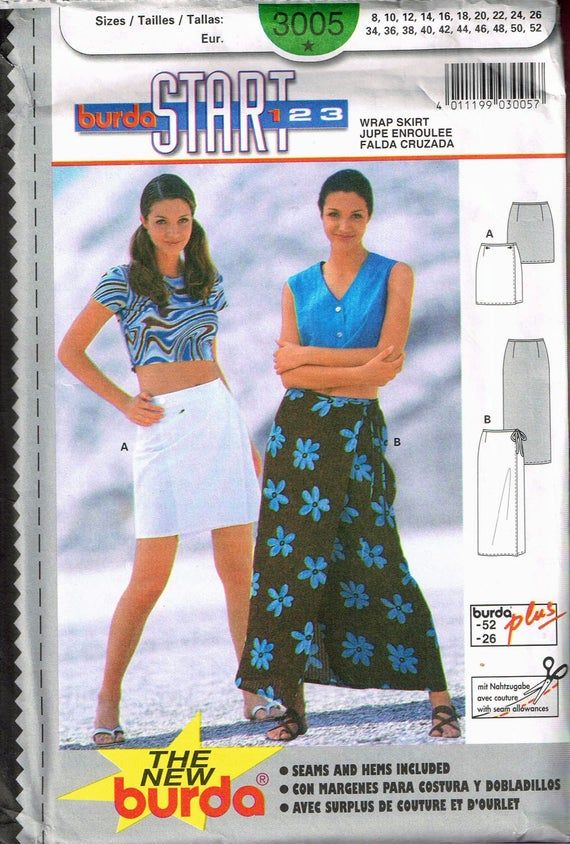 8-10-12-14-16-18-20 NEW LOOK sewing pattern 6605 JUPES A