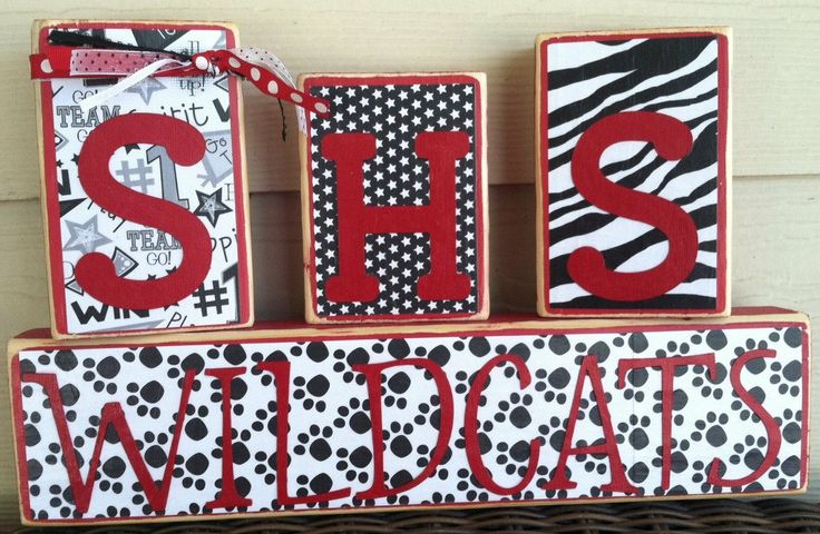 School Spirit Blocks!  Great gift idea for cheer coach!