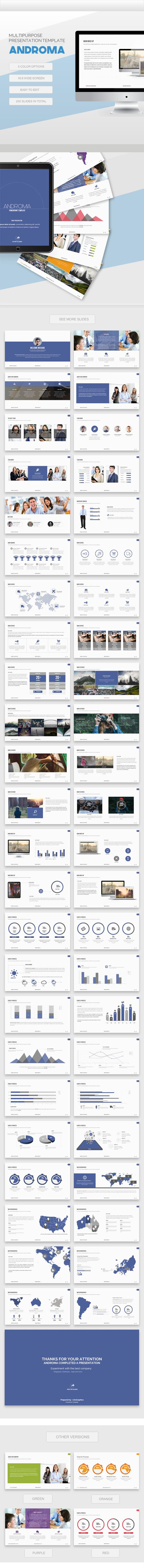 Androma – Powerpoint Template (PowerPoint Templates) - Stunning Resources for designers - OrTheme