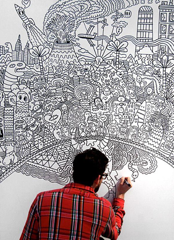 Serge Seidlitz Drawing: Doodles Art, Serge Seidlitz, Blank Wall, Seidlitz Drawings, Doodles Wall, Artsy Fartsi, 3D Art, Drawings Doodles, Zendoodl Art