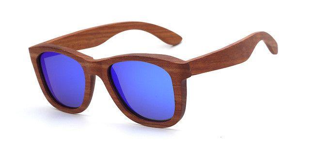 X-WOOD Zebra Wood Sunglasses Women Vintage Designer Square Wooden Sunglasses Polarized Men Glasses With Bamboo Box Gafas Mujer