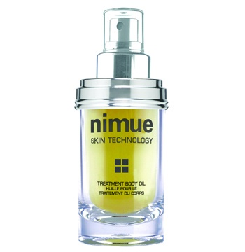 Treatment Body Oil. A superior, luxurious water soluble body oil treatment spray based primarily on a medley of pure and high quality African lipid plant raw materials, sprayed onto the body before bathing or as needed. 60ml. Nimue Skin Technology.