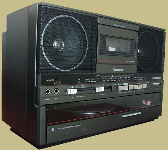 Panasonic SG-J555 boombox. Radio, cassette player and 2-speed record player.