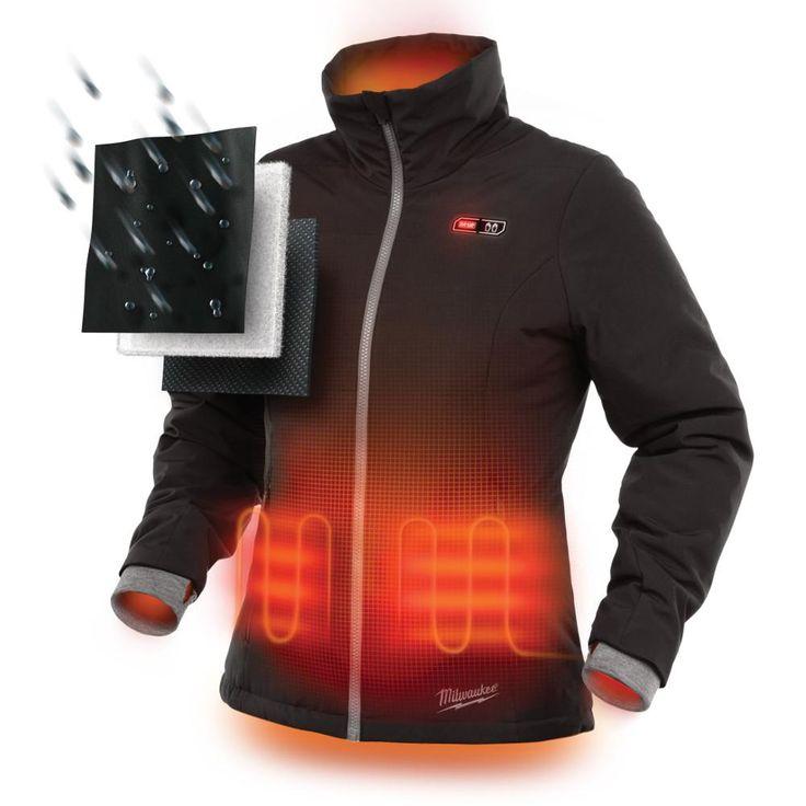 Milwaukee Women's Medium M12 12-Volt Lithium-Ion Cordless Black Heated Jacket Kit