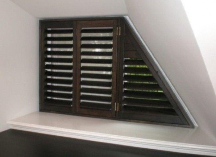 prachtige shutters en ideaal voor het schuine raam in mijn slaapkamer
