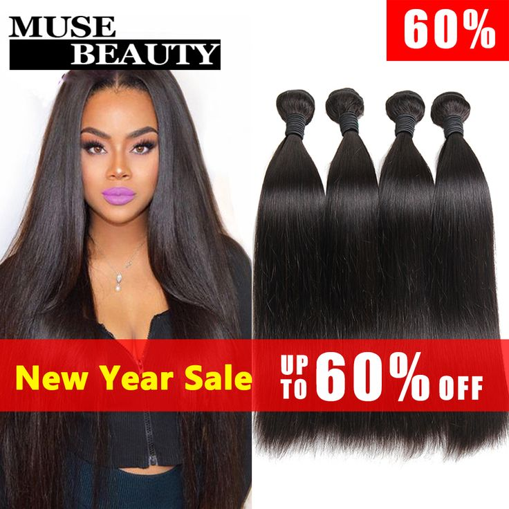 10A Unprocessed Indian Virgin Hair Straight 4 Bundles Muse Beauty Hair Products Indian Straight Hair Weave Human Hair Extensions * Offer can be found by clicking the VISIT button