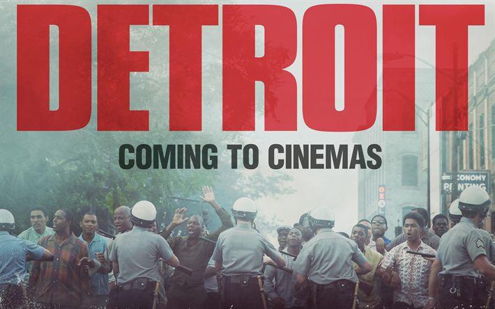 Hämta bilder Detroit, 2017, 4k, Nya filmer, affisch, Brottslighet, Drama