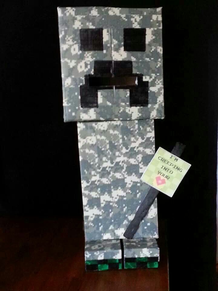 Minecraft Creeper Valentine 39 S Day Box My Son And I Made