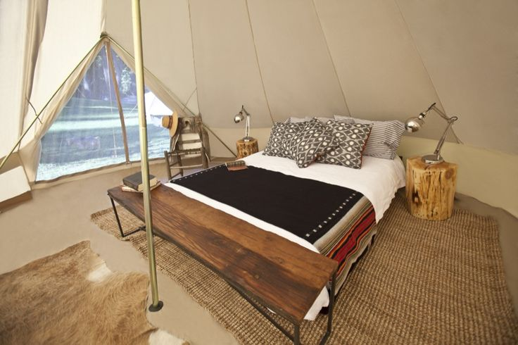 camping in style, perfect.  canvas tents at Shelter Co.