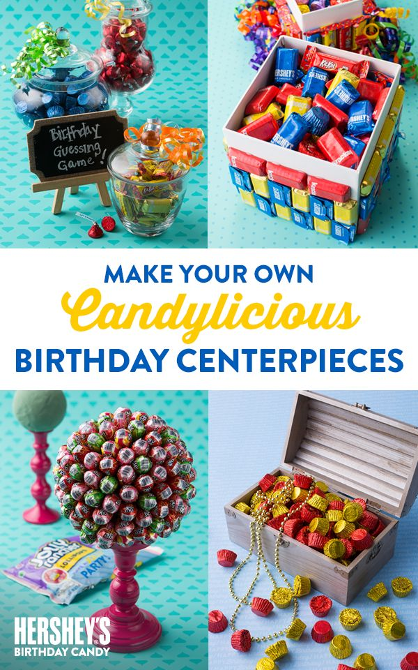 Make your next birthday party the sweetest ever with some candylicious centerpieces. Make your party JOLLY RANCHER-rific with this great Pick-a-Pop game. Got a pirate-themed birthday party? Take it to the next level with this REESE-rific pirate chest! Why not bring fun, carnival birthday games to the party with the Sweetest Birthday Guessing Game? Let's Birthday!