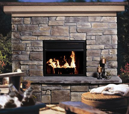 Fireplace Wolf Creek Country Ledgestone Cultured Stone