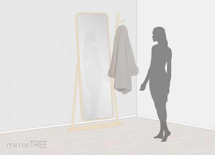Lo specchio è uno dei complementi di arredo più utilizzato dalla donna, prima di uscire o durante la prova degli abiti questo è l'elemento principe.. perchè non abbinarlo con un appendiabito, così da poter appendere gli indumenti che stiamo per provare o il cappotto che ci servirà per uscire?  Nasce, da questa idea,  MirrorTREE: uno specchio (dim. 580x1800mm), con cornice in legno di betulla che ruota, per permette una miglior fruizione dell'utente; integrato con un appendiabito verticale a…