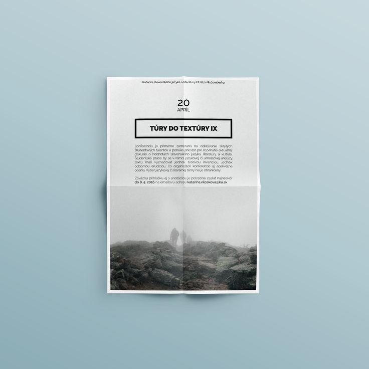 my graphic design portfolio - flyer - túry do textúry