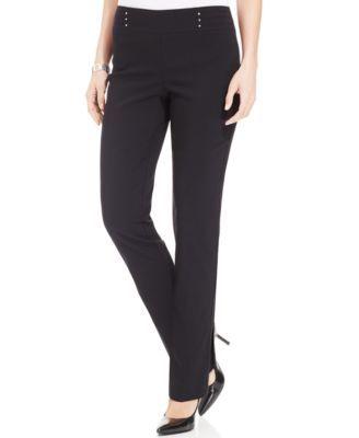 JM Collection Studded Pull-On Pants | macys.com