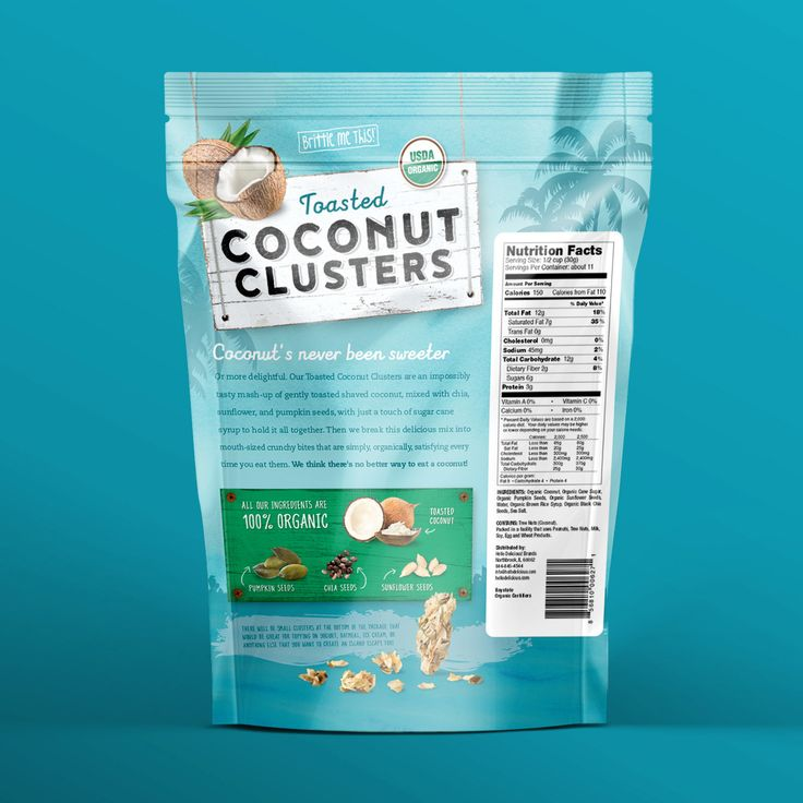 Toasted Coconut Clusters — The Dieline - Branding & Packaging Design