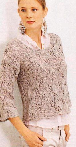 Связать пуловер спицами