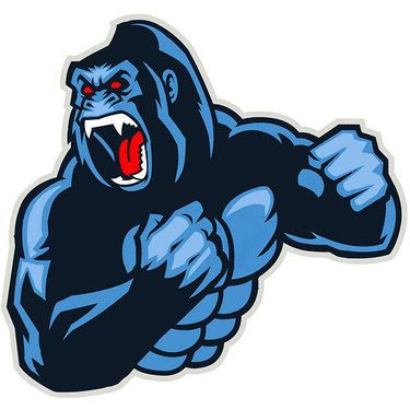 Blue Gorilla Tattoo Design